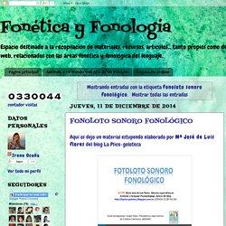 Fonética y Fonología: Fonoloto sonoro fonológico