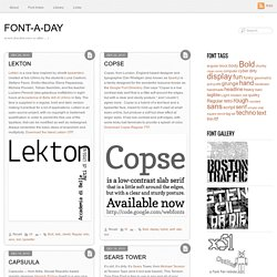 Font-A-Day