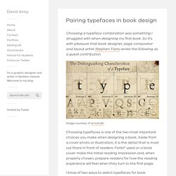 Pairing typefaces in book design