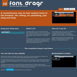 font dragr | Drag and drop font testing