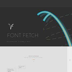 Font-Fetch-Muse-widget