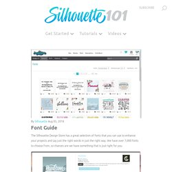Font Guide