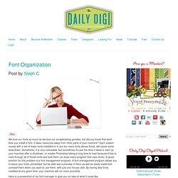 Blog Archive » Font Organization