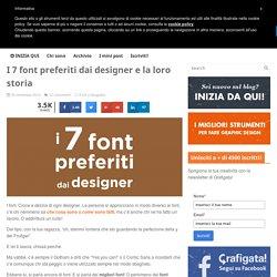I 7 font preferiti dai designer e la loro storia