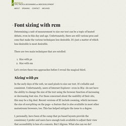 Font sizing with rem