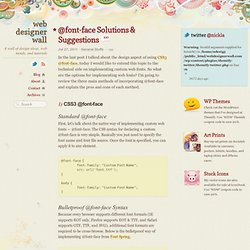 @font-face Solutions & Suggestions