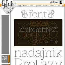 Font ZnikomitNo25 - made by gluk