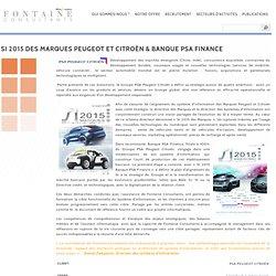 SI 2015 des Marques Peugeot et Citroën & Banque PSA Finance