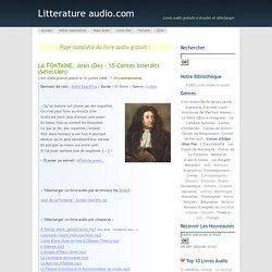 LA FONTAINE, Jean (de) – 15 Contes interdits (Sélection