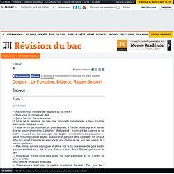 Corpus: La Fontaine, Diderot, Rabah Belamri - Première Français