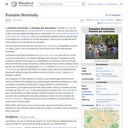 Fontaine Stravinsky