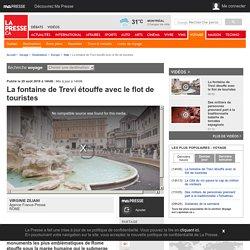 La fontaine de Treviétouffe avec le flot de touristes