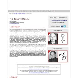 Jacques Fontanille and Zilberberg : The Tensive Model