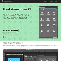 FontAwesomePS - Font Awesome icons right inside Photoshop.