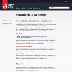 Fontdeck web fonts: Real fonts for your website