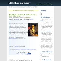 Fontenelle – Entretiens sur la pluralité des mondes (Audio)