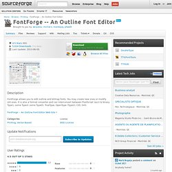 FontForge -- An Outline Font Editor | Download FontForge -- An Outline Font Editor software for free at SourceForge