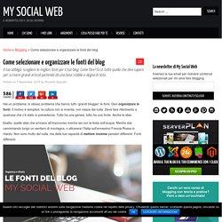 Fonti del blog: come selezionare link e organizzare la base del post