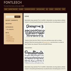 Fontleech: The best free fonts on the web.