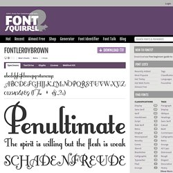 FontleroyBrown Font Free by Nick's Fonts