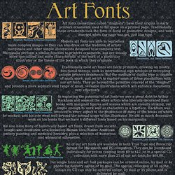 Fonts and Art from the Scriptorium