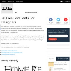 20 Free Grid Fonts For Designers