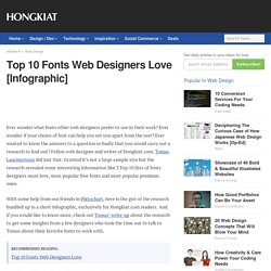 Top 10 Fonts Web Designers Love [Infographic]