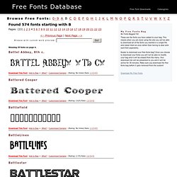 B Fonts Free Fonts Downloads Page 4 | FreeFontsDB.com