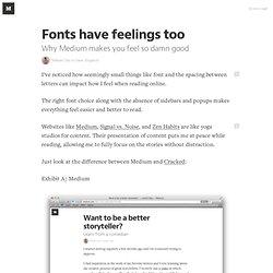 Fonts have feelings too — ooomf labs