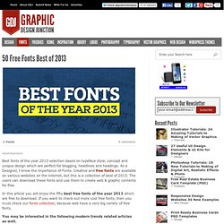 Free Fonts Best of 2013