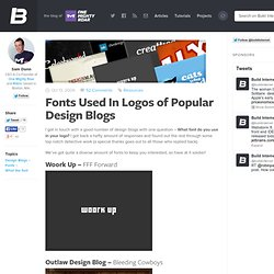 Fonts Used In Logos of Popular Design Blogs
