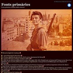 Fonts primàries d'àmbit català