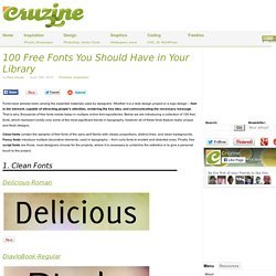 100 Free Fonts You Should Have in Your Library | Cruzine