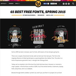 65 best free fonts, Spring 2015