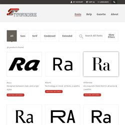 Fonts — Typofonderie