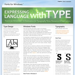 Fonts for Windows