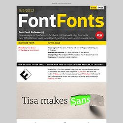 Newsletter | FontFont Release 59 | May 9, 2012