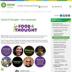 Food 4 Thought - For students!