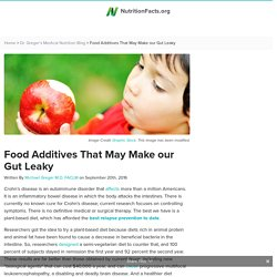 Food Additives That May Make our Gut Leaky