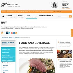 NEW ZEALAND TRADE & ENTERPRISE - MARS 2014 - Food and beverage. Au sommaire: Food and beverage market in Japan