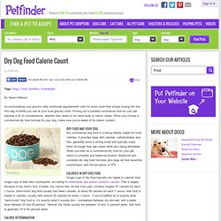 Dry Dog Food Calorie Count