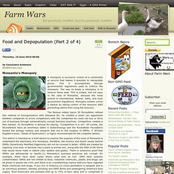 Food and Depopulation (Part 2 of 4)