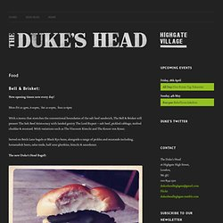 Food | Duke's Head Highgate