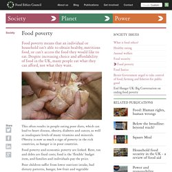 Food Ethics Council - Food poverty