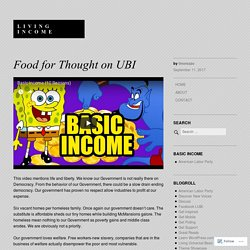 Food for Thought on UBI – Living Income