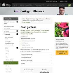 Food Gardens in schools