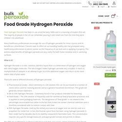 Food Grade Hydrogen Peroxide - Bulk Peroxide
