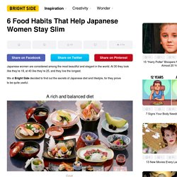 6 Food Habits That Help Japanese Women Stay Slim