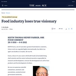 Food industry loses true visionary