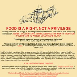 FOOD IS A RIGHT, NOT A PRIVILEGE